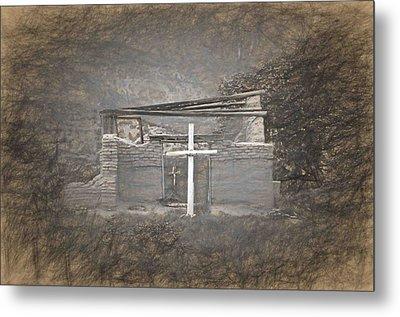 Abiquiu Nm Church Ruin Metal Print