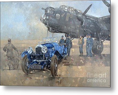 Able Mable And The Blue Lagonda  Metal Print by Peter Miller