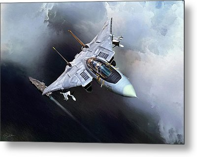 Above Big Stick Metal Print by Peter Chilelli