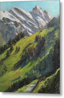 Above It All Plein Air Study Metal Print by Anna Rose Bain