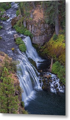 Above Middle Falls Metal Print