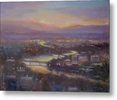 Above Missoula Metal Print by Lori  McNee