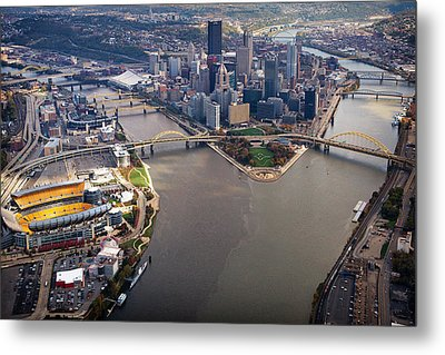Above Pittsburgh In  Color  Metal Print