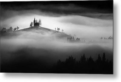 Above The Mist Metal Print by Sandi Bertoncelj