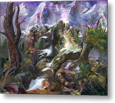Metal Print featuring the painting Above The Timberline by Sherry Shipley