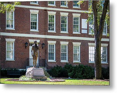 Metal Print featuring the photograph Abraham Baldwin Statue At Uga by Parker Cunningham