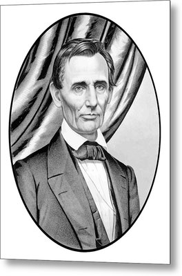 Abraham Lincoln Circa 1860 Metal Print by War Is Hell Store
