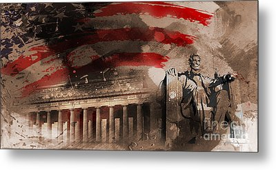 Metal Print featuring the painting Abraham Lincoln by Gull G