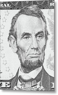 Metal Print featuring the photograph Abraham Lincoln by Les Cunliffe
