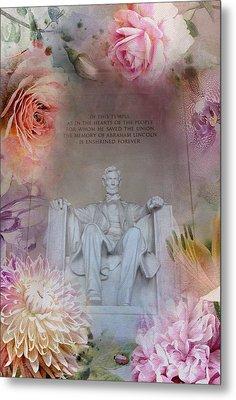 Abraham Lincoln Memorial At Spring Metal Print