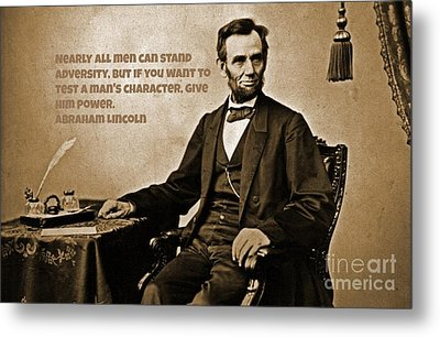 Abraham Lincoln Quote Three Metal Print