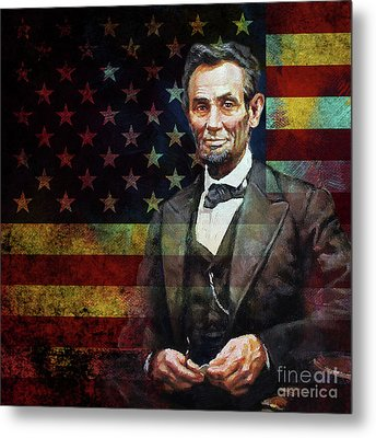 Abraham Lincoln The President  Metal Print by Gull G