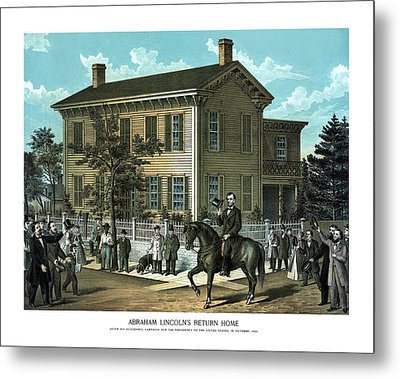 Abraham Lincoln's Return Home Metal Print