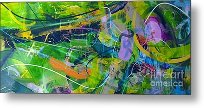 Metal Print featuring the painting Abstract # 12015 by Robert Anderson