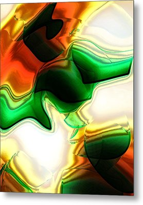 Abstract - Fusion Metal Print by Patricia Motley
