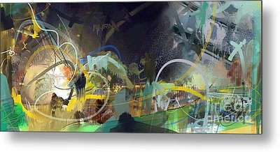 Abstract 11715 Metal Print by Robert Anderson