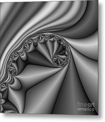 Abstract 168 Bw Metal Print by Rolf Bertram