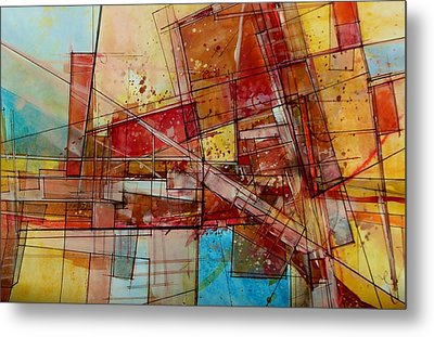 Abstract #240 Metal Print by Robert Anderson