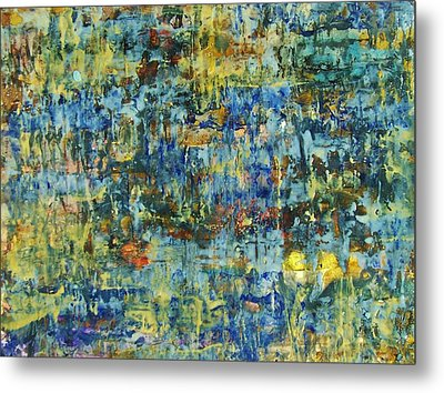 Metal Print featuring the painting Abstract #329 by Robert Anderson