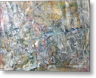 Metal Print featuring the painting Abstract #415 by Robert Anderson