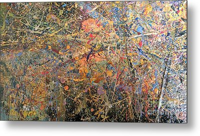 Metal Print featuring the painting Abstract #416 by Robert Anderson