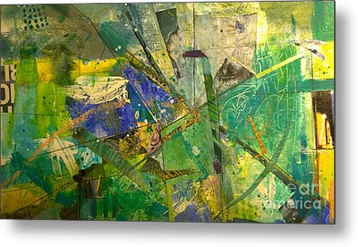 Metal Print featuring the painting Abstract #41715 by Robert Anderson