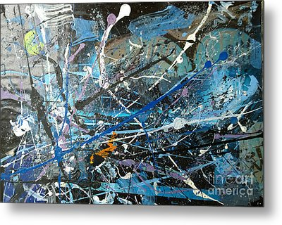 Metal Print featuring the painting Abstract #419 by Robert Anderson
