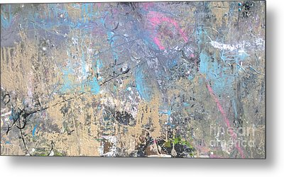 Metal Print featuring the painting Abstract #42115a by Robert Anderson