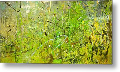 Metal Print featuring the painting Abstract #42515b Or Marsh Life by Robert Anderson