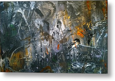 Metal Print featuring the painting Abstract #42815 by Robert Anderson