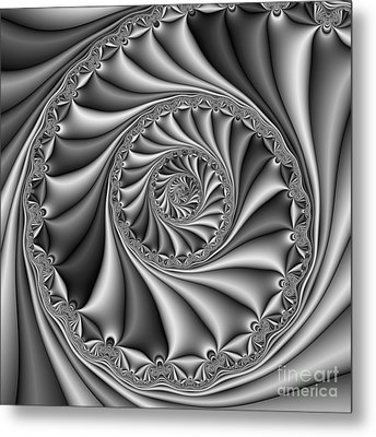 Abstract 508 Bw Metal Print by Rolf Bertram