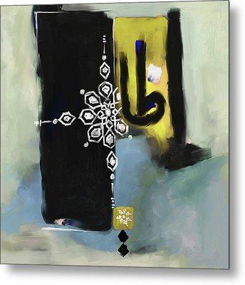 Abstract 513 3 Metal Print by Mawra Tahreem