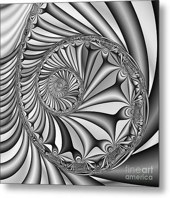 Abstract 527 Bw Metal Print by Rolf Bertram