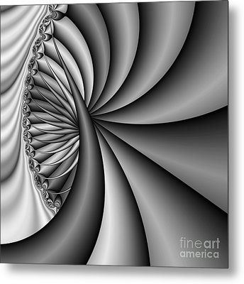 Abstract 531 Bw Metal Print by Rolf Bertram
