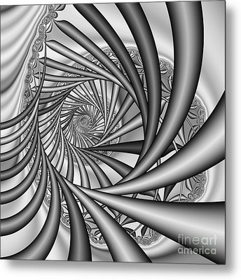 Abstract 532 Bw Metal Print by Rolf Bertram