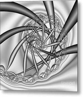 abstract 533 BW Metal Print by Rolf Bertram