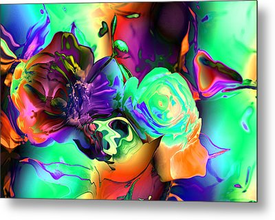Abstract-aqua Mood Metal Print by Patricia Motley
