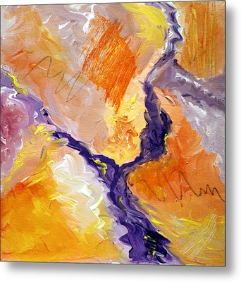 Abstract Art - Fire River Metal Print by Karyn Robinson