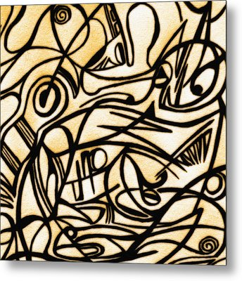 Abstract Art Gold 2 Metal Print