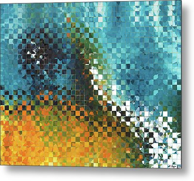 Abstract Art - Pieces 9 - Sharon Cummings Metal Print by Sharon Cummings