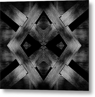 Metal Print featuring the photograph Abstract Barn Wood by Chris Berry