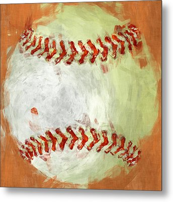 Abstract Baseball Metal Print by David G Paul