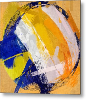 Abstract Beach Volleyball Metal Print