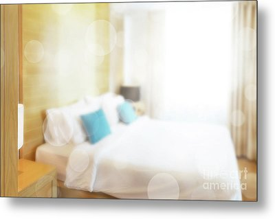 Metal Print featuring the photograph Abstract Bedroom by Atiketta Sangasaeng