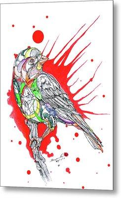 Abstract Bird 002 Metal Print by Dwayne  Hamilton
