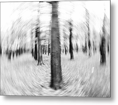 Abstract Black And White Nature Landscape Art Work Photograph Metal Print by Artecco Fine Art Photography