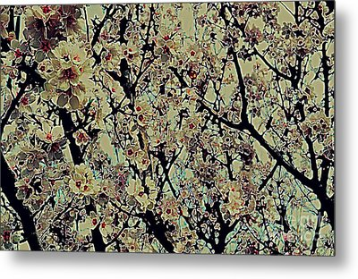 Abstract Blossoms Metal Print