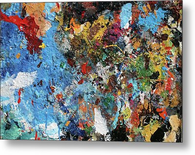 Metal Print featuring the painting Abstract Blue Blast by Melinda Saminski