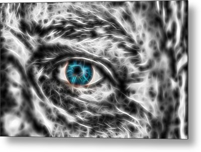 Metal Print featuring the photograph Abstract Blue Eye by Scott Carruthers