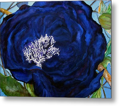 Abstract Blue Metal Print by Lil Taylor
